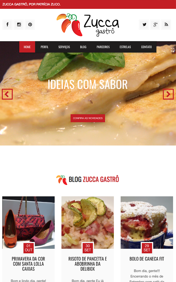 Screenshots of Zucca Gastrô -Ideias Com Sabor for iPhone