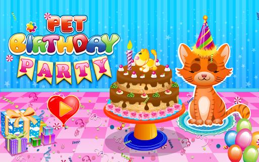 ペットの誕生日パーティー