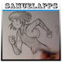sketch anime characters APK icon