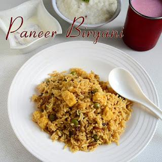 Easy Paneer Biryani