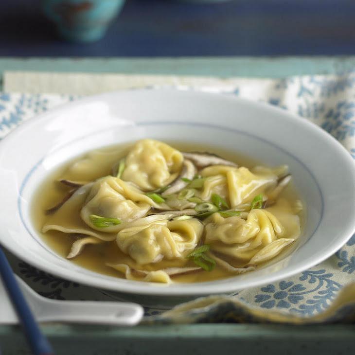 Shrimp and Pork Dumpling Soup