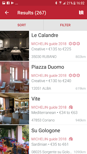 MICHELIN guide Europe 2018 screenshot