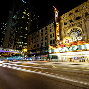 Weird Chicago Theater by Brian Walworth - City,  Street & Park  Night (  )