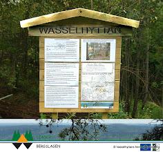 Photo: Informationstavla vid hyttplatsen