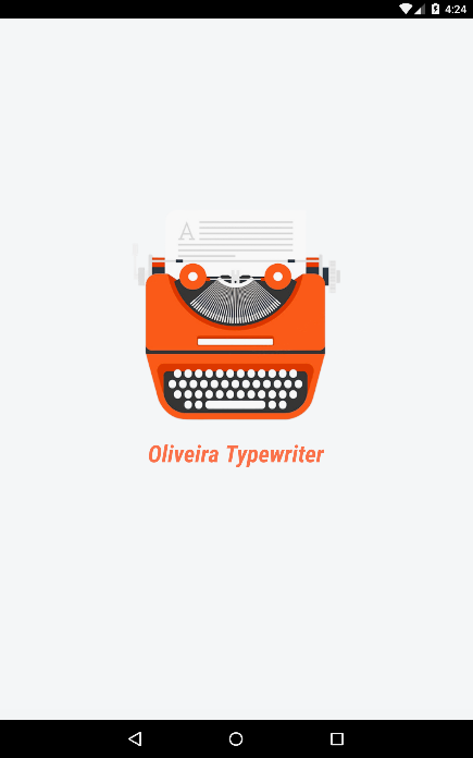 Oliveira Typewriter- screenshot