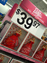 Photo: And just when I thought it was early for Halloween....enter Holiday Barbie all dressed for Christmas!  I don't know how much Barbies are supposed to cost but $40 seems a bit crazy to me.