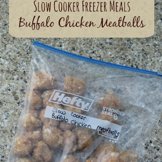 Buffalo Chicken Meatballs| Freezer to Slow Cooker Meals.