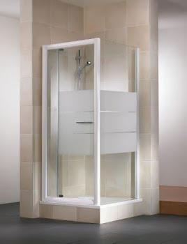 Paroi latérale pour porte de douche pivotante Vita, 80 ou 90 cm