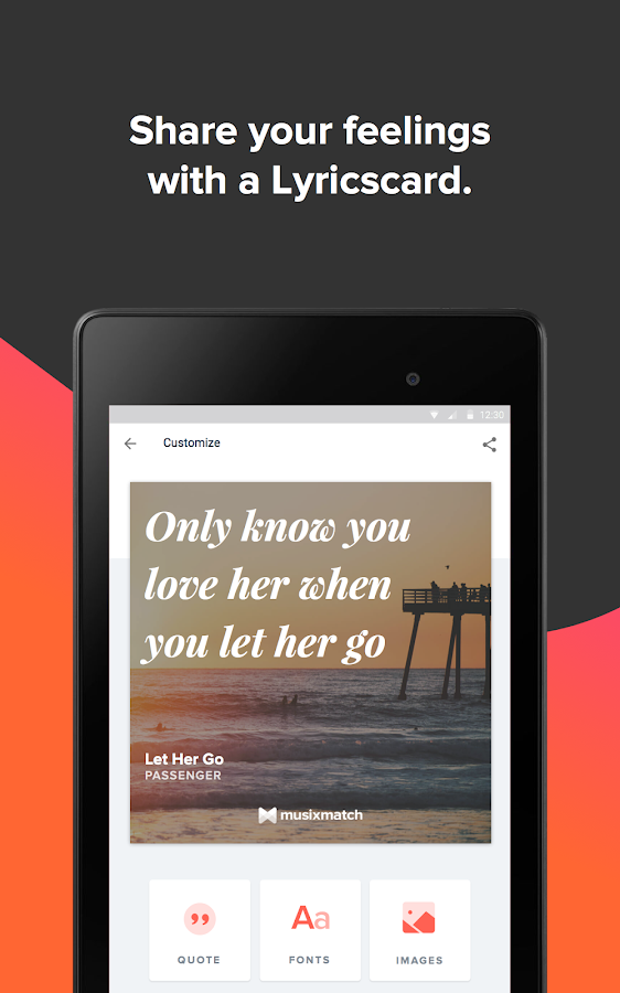 Screenshots of Musixmatch - Lyrics & Music for iPhone