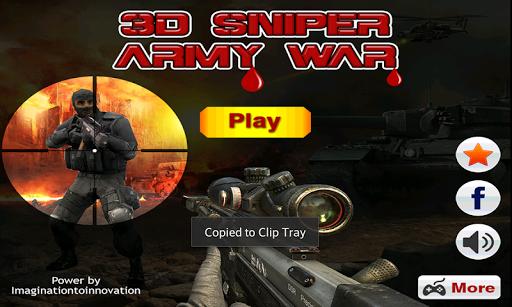 Sniper Army War 3D 2015