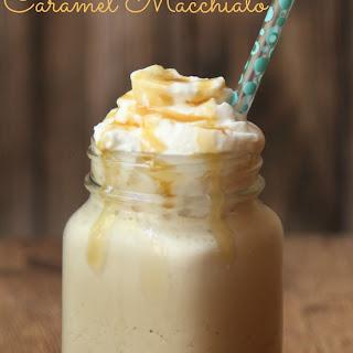 Frozen Caramel Macchiato Iced Coffee.