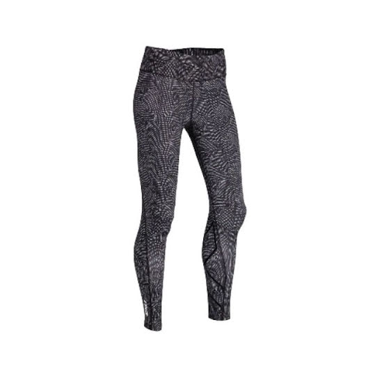 2XU Mid-Rise Print Tights, Dam, Dark Charcoal White 3D Dots/Nero, XS