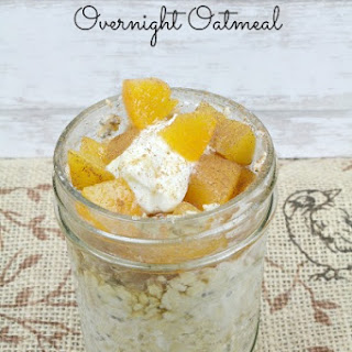 Peach Cobbler Overnight Oatmeal