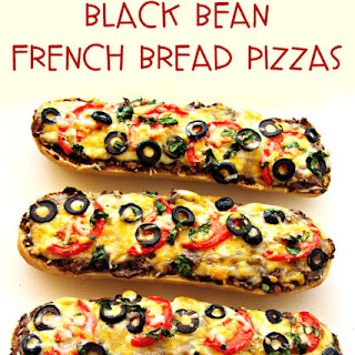 Black Bean French Bread Pizza