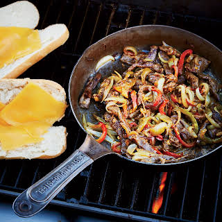 Grilled Philly Cheesesteaks.