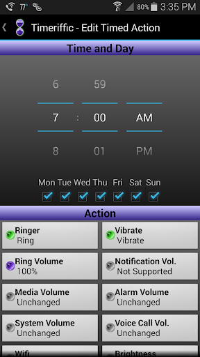 Timeriffic screenshot 19