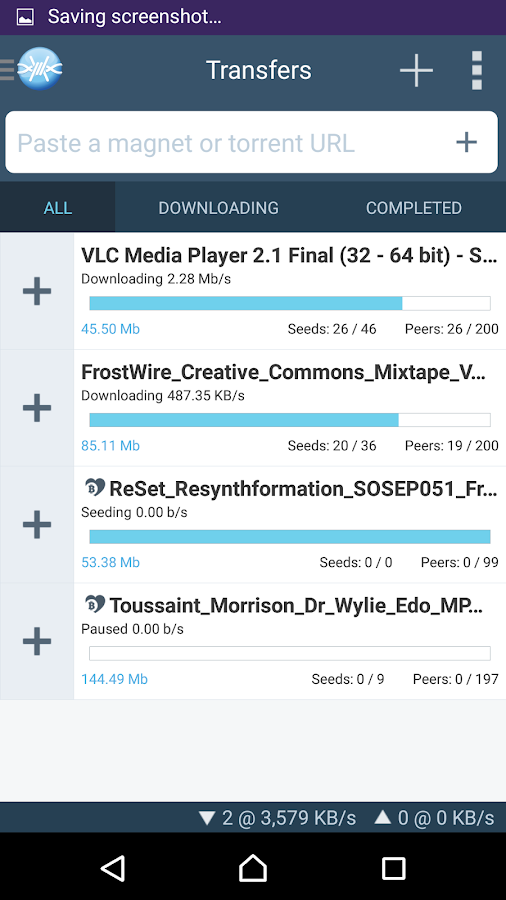 FrostWire - Torrent Downloader - screenshot