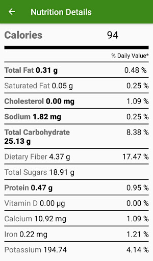 Nutrition Details screenshot 5