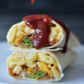 BBQ Mac and Cheese Burrito