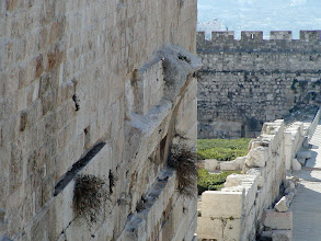 Photo: Part of an arch which was once a portion of a a bridge connecting the Temple Mount and the commercial area.