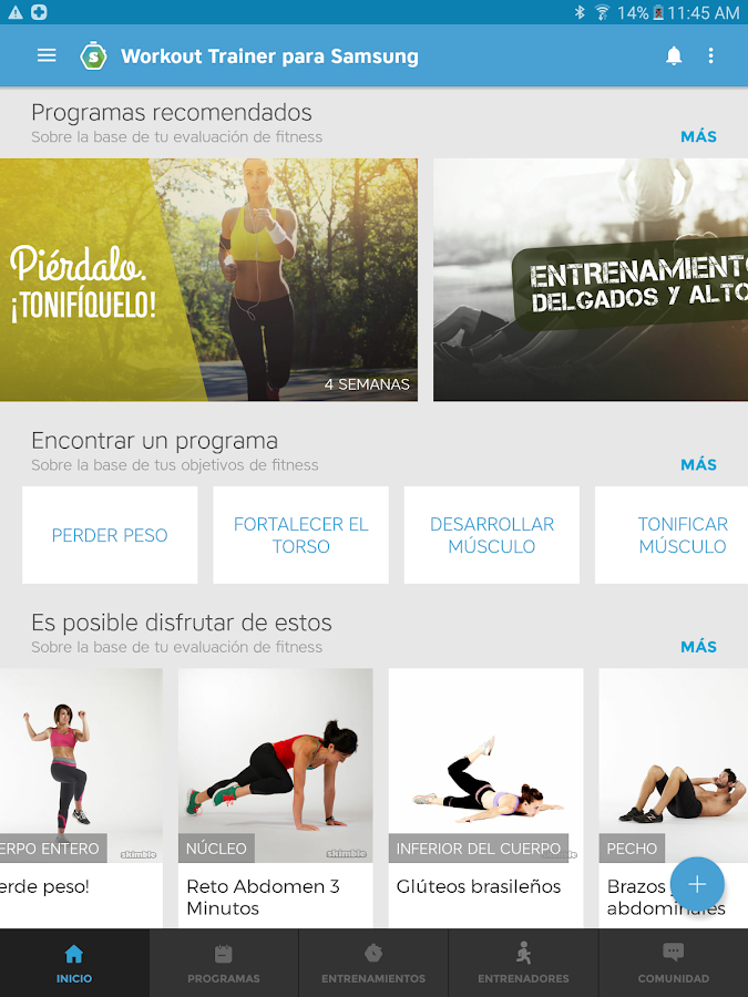 Entrenador Personal: Workouts!: captura de pantalla