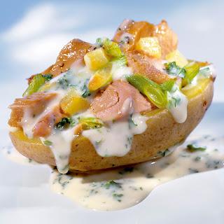 Ofenkartoffel mit Fisch