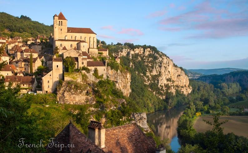 Saint-Cirq-Lapopie Самые популярные деревни Франции