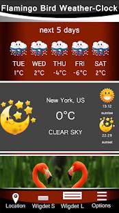 Flamingo Bird Weather-Clock - náhled