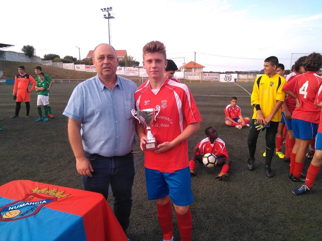 ADR Numancia de Ares. Cadetes 2017-2018. Prados Vellos. 25/08/2017 V Trofeo Vila de Ares 2017. Numancia, 1 - G.Mugardos,0