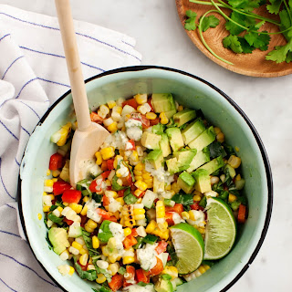 Corn, Cucumber, Peach & Avocado Salad