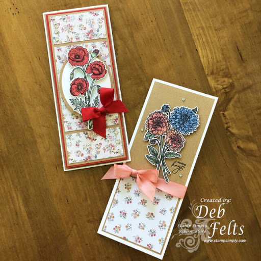Pretty Poppies & Delightful Dahlias Slimlines – by Deb Felts