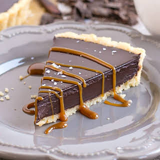 Dark Chocolate Ganache Tart.