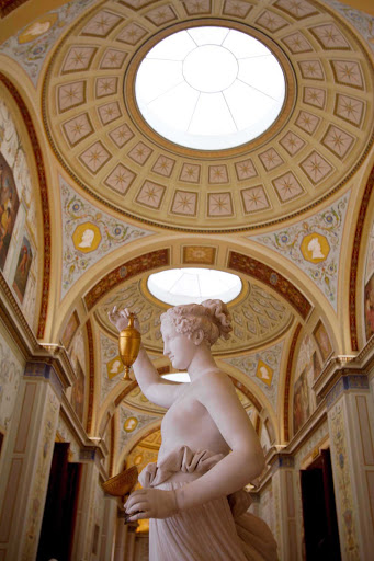 A gallery in the Hermitage Museum, St. Petersburg, Russia.