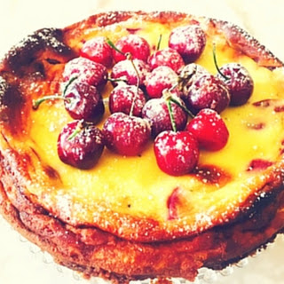 Ricotta And Cherry Cheesecake