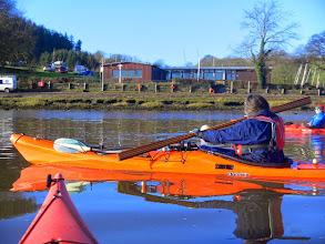Photo: Arriving at Llangain Boat Club