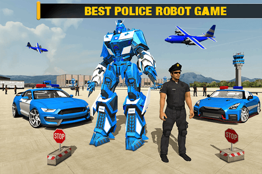 US Police Robot Car - Police Plane Transport Ship 1.2 screenshots 1