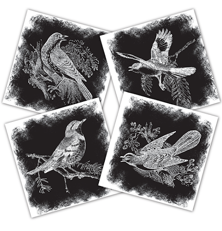 Tattered Angels Mixed Media Origins Mini Art - Song Birds UTGÅENDE