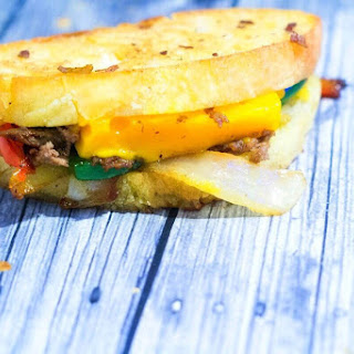 Steak and Mimmolette Grilled Cheese.