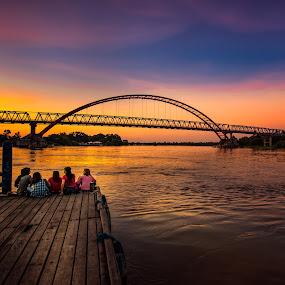 Band of Sisters by Alexander Nainggolan - People Street & Candids ( central kalimantan, sunset, indonesia, kahayan, landscape, palangkaraya, borneo,  )