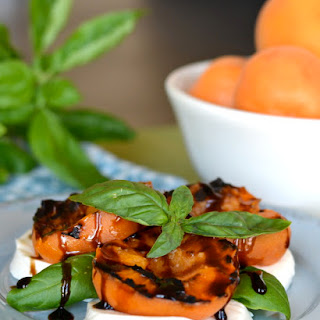 Grilled Apricot Caprese Salad