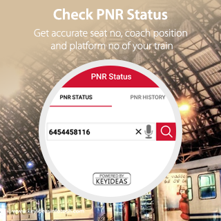 Indian Railway IRCTC PNR App- screenshot