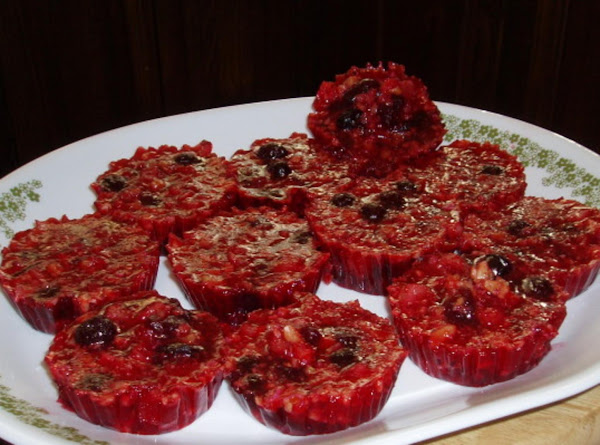 Cranberry Jello Muffin Cups Recipe