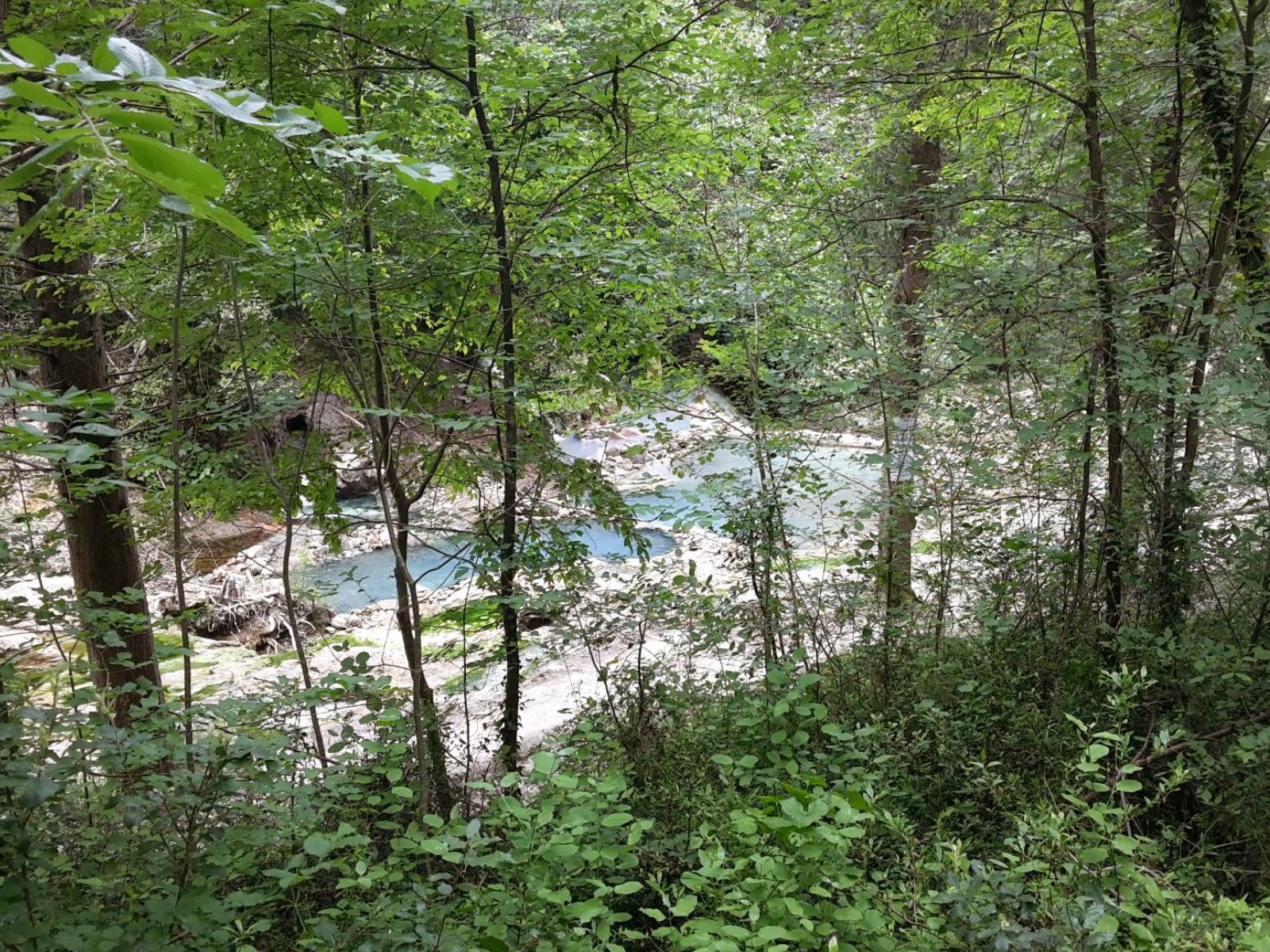 Natuurlijke waterbassins in Bagni San Filippo, frazione di Castiglione d'Orcia, Val d'Orcia