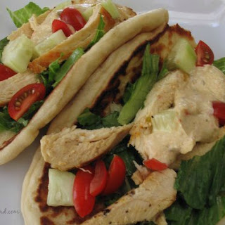 Grilled Chicken Hummus Wraps