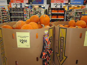 Photo: This is a Fall season, where there are pumpkins for pumpkin pie, pumpkin muffins or pumpkin bread. Walmart has great prices on this seasonal fruit.