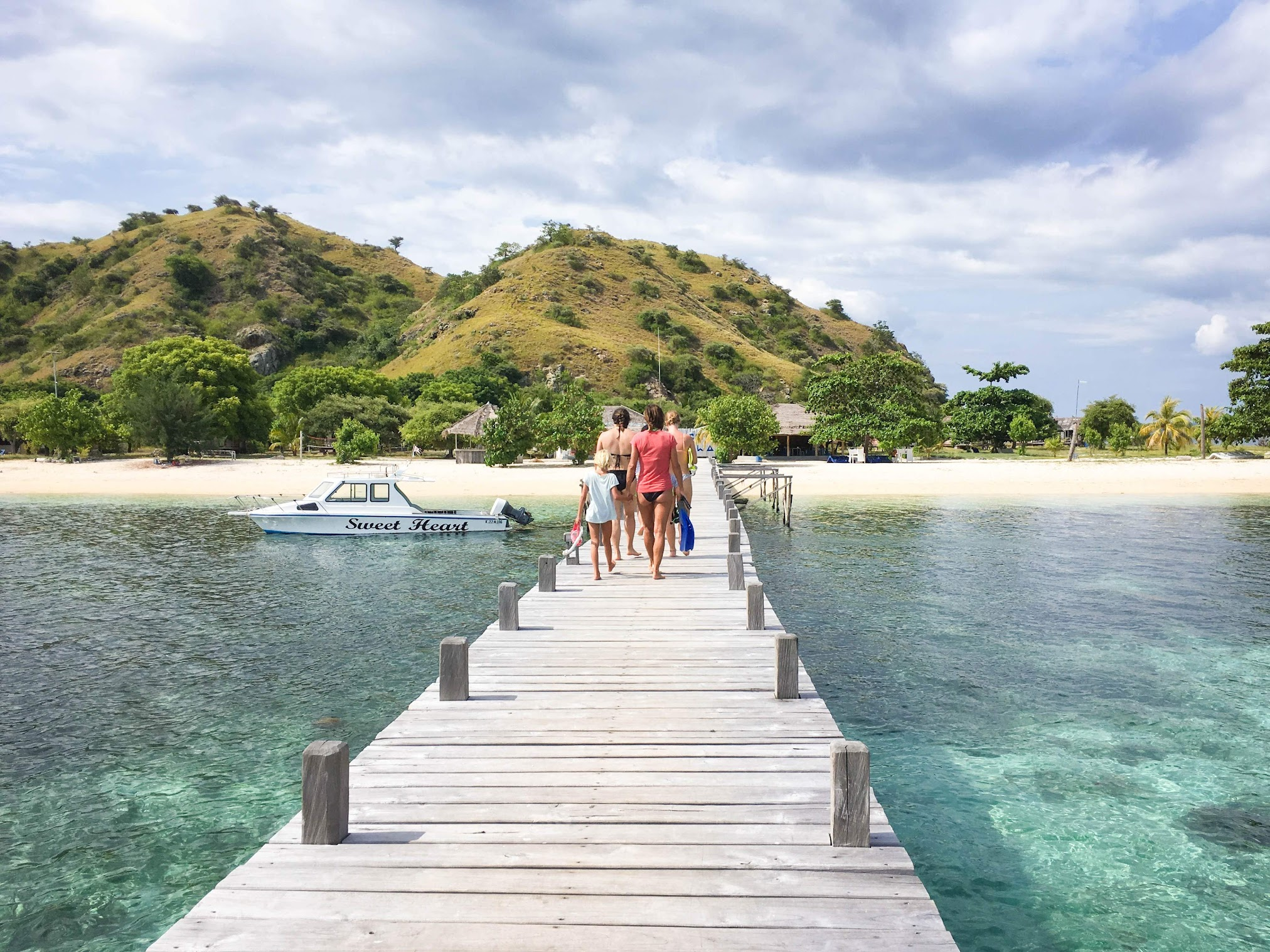 Walking towards Kanawa Island, Komodo National Park