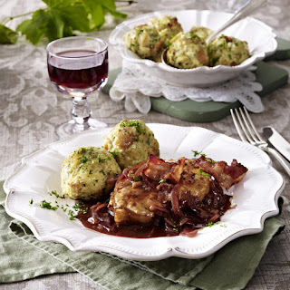 Pan-Seared Pork Medallions and Dumplings with Onion Sauce