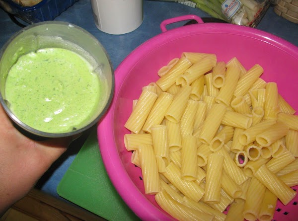 While noodles cook, combine ricotta cheese, spinach and bread crumbs in a blender (small...