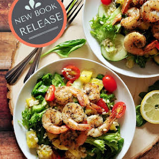 Grilled Shrimp Brown Rice Combo.