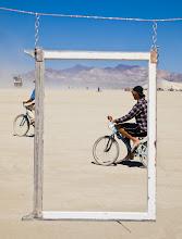 Photo: Biking Across the Playa, Burning Man, Nevada  from Trey Ratcliff at www.stuckincustoms.com